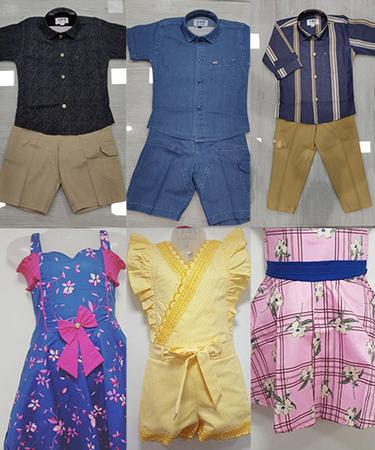 AMB by Tolani bespoke fashion for boys and girls. Denim and cotton shirts and trousers. Dresses and blouses.